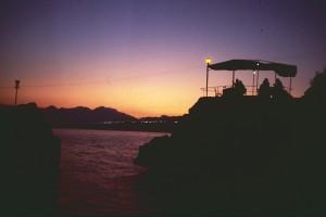 Sonnenuntergang am Fels von Antalya. Foto: Ulrich Horb