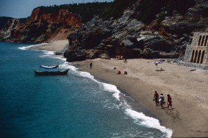 Strand von Alanya 1983. Foto: Ulrich Horb