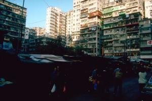 Hongkong, Wohnblock 1983. Foto: Ulrich Horb
