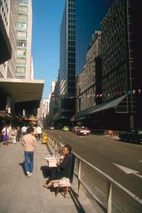 Hongkong, Zeitungsverkäuferin. Foto: Ulrich Horb