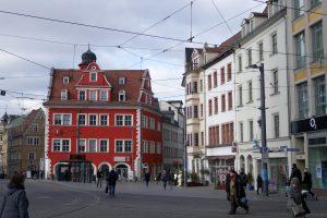 Halle (Saale): das Halloren-Café und die Tourismus-Information. Foto: Ulrich Horb
