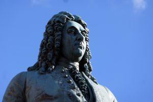 Halle (Saale): das Händel-Denkmal. Foto: Ulrich Horb