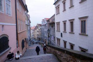 Prag: alte Schlossstiege. Foto: Ulrich Horb