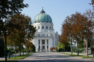 Wiener Zentralfriedhof: die Karl-Borromäus-Kirche. Foto: Ulrich Horb