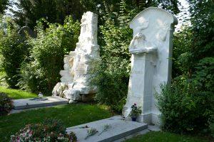 Wiener Zentralfriedhof: Grabstelle von Johannes Brahms. Foto: Ulrich Horb
